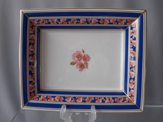 Wall Plates Home Decor : Wedgwood rose plate home decor wall hanging