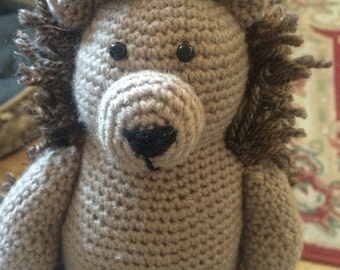 Handmade crochet hedgehog