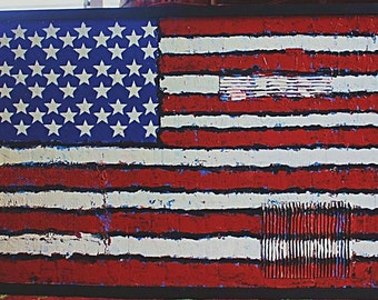 old glory - American flag - urban art - stars and stripes - wall art  - painting
