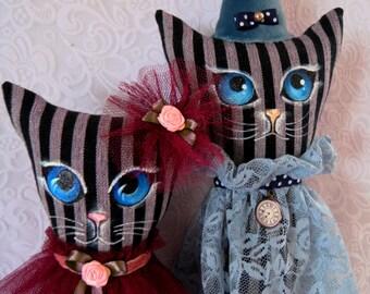 Textile cat, Handmade cat