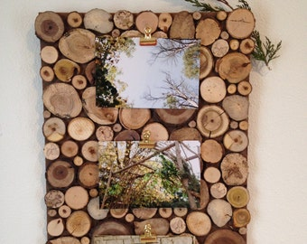 Wood Picture Board | Picture Frame | Rustic Picture Frame | Home Decor | Picture Display | Wall Hanging | Great Gift | Wooden Home Decor