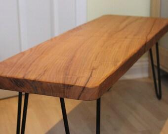 Oak Coffee Table on Hair Pin legs