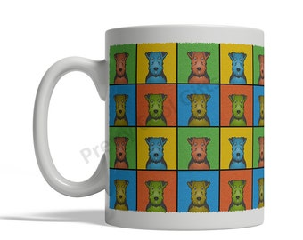 Welsh Terrier Dog Cartoon Pop-Art Mug - 11oz. Ceramic Coffee Tea Cup