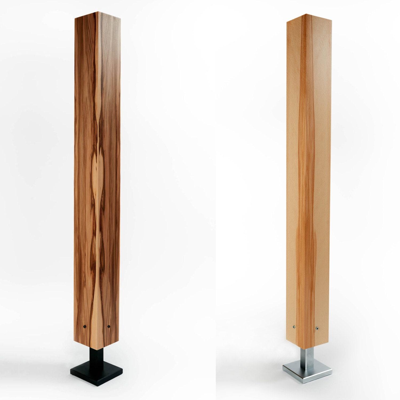stehleuchte stehlampe holz furnier led brennholz design. Black Bedroom Furniture Sets. Home Design Ideas