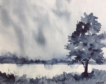 Rainy Day ~ Original Watercolor art