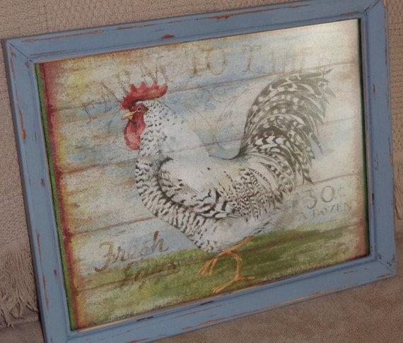 Rooster Picture Country Rooster Kitchen Picture Country Wall