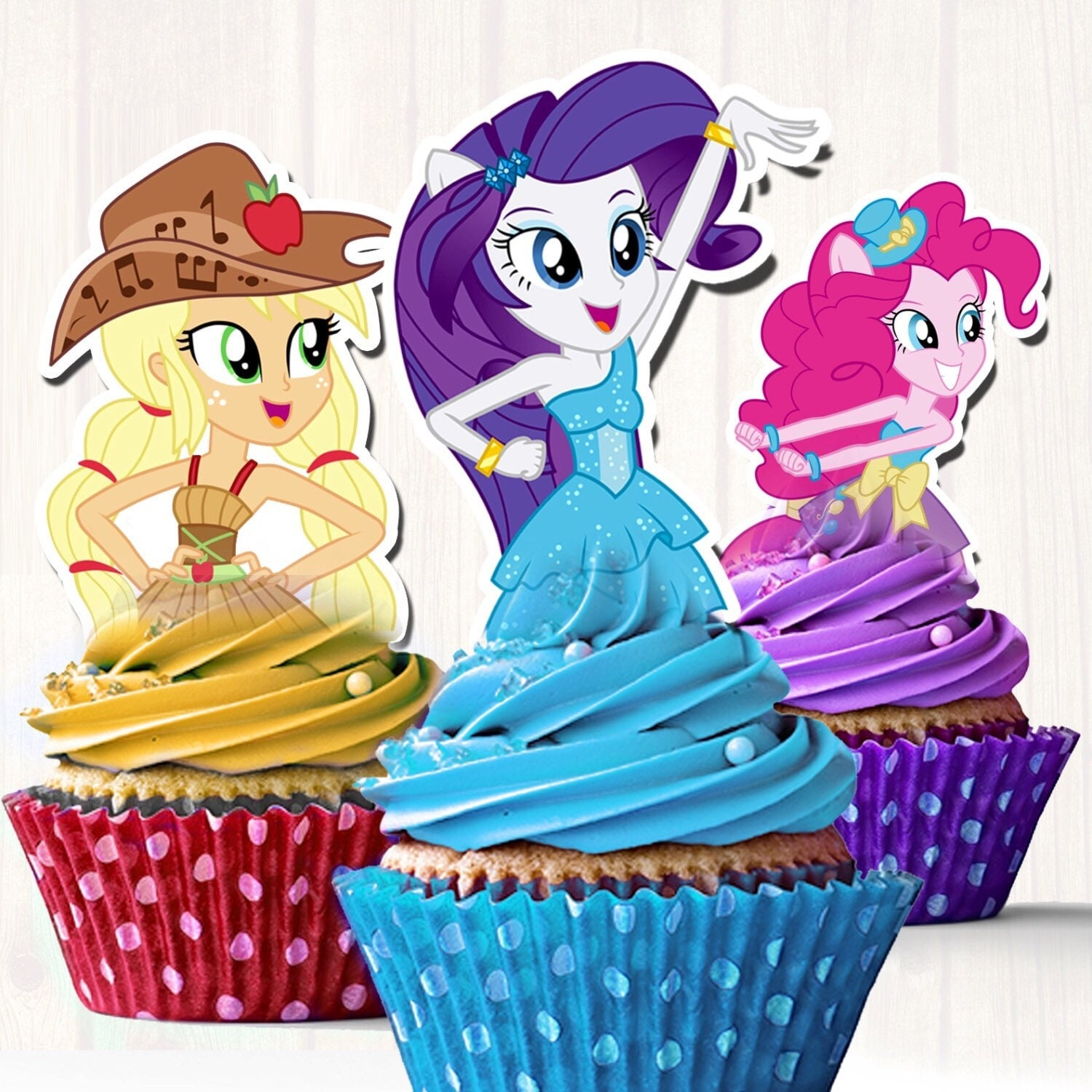 My Little Pony Equestria Cupcake Toppers Equestria Girls