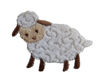 Especially Baby Sheep Lamb Embroidered Iron On Applique