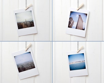 4 postcards Polaroid NYC New York City Flatiron Empire State Building Coney Iceland A6 10 x 15