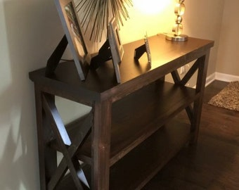 Stained X Entry or Sofa table