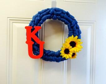 KU, Rock Chalk, University of Kansas Wreath
