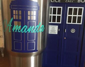 TARDIS Name decal