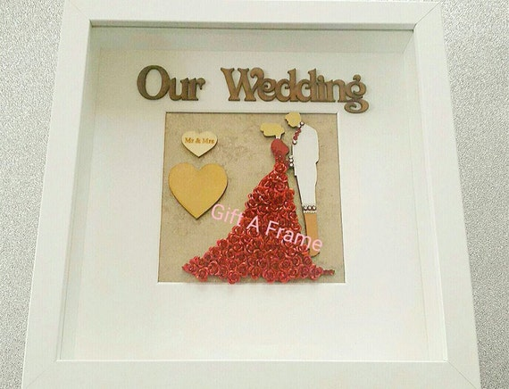Personalised Wedding Gift India : personalised asian indian wedding gift newlywed gift frame keepsake ...