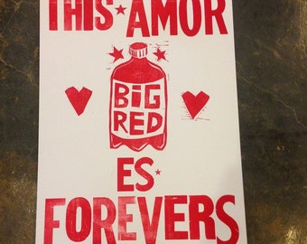 Letterpress Print 12x18: This Amor es Forevers