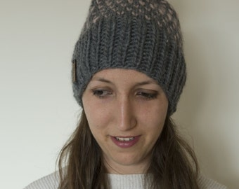 Fair Isle Knit Hat with Pom Pom