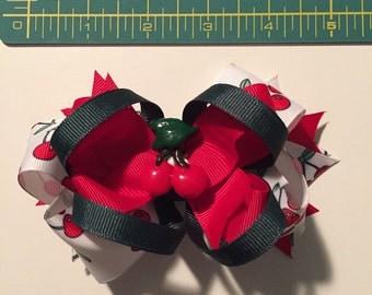 Cherry boutique bow.