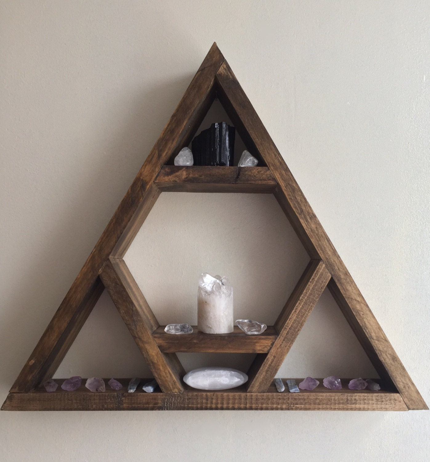 Altar shelf the original designer chcakra triangle shelf - Triangular bookshelf ...