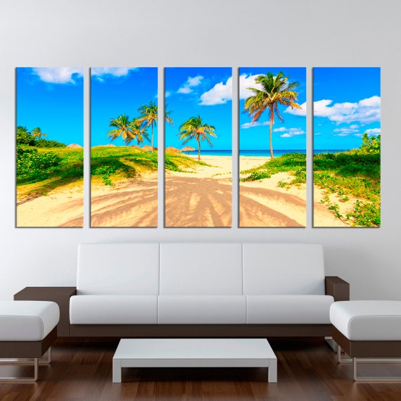 extra large wall art photo framed canvas beach by. Black Bedroom Furniture Sets. Home Design Ideas