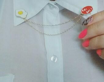 Fashion Collar chain with detachable enamel pins