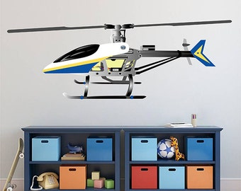 kcik1294 Full Color Wall decal Helicopter air transport children's room