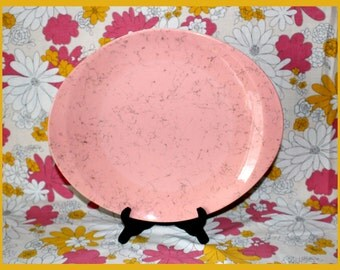 Vintage 50's Blue Ridge Southern Potteries, Inc. Hand Painted Spiderweb Pink and Black Serving Platter