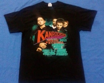 Rare Kanrocksas Concert Shirt 2011 / eminem, muse, the flaming lips,baassnectar, the black keys