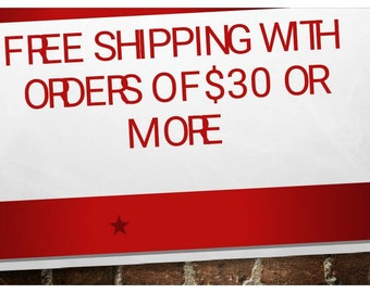 Free shipping over 30 dollars
