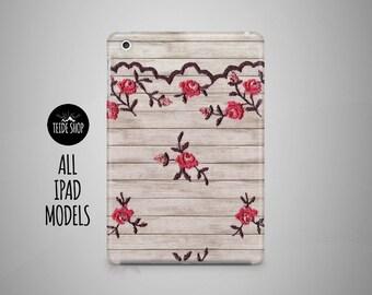 Lace Flowers iPad Case Wood Lace iPad Mini Case iPad Mini 3 4 Cover iPad Cover iPad Air 2 Case iPad Sleeve Birthday Gift Idea iPad 3 4 Case