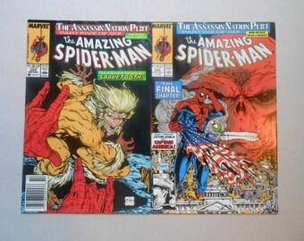 Amazing Spider-Man; Sabretooth; #324-325; lot of 2; Todd McFarlane  Art; Captain America, Red Skull, High Grade!