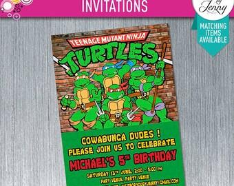 Teenage Mutant Ninja Turtles Invitation