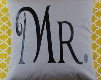 16x16 Mr. Pillow Cover