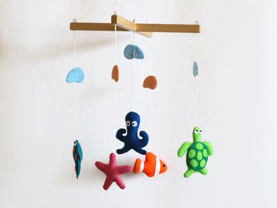 Items similar to sea creatures mobile baby mobile for Sea animal baby mobile