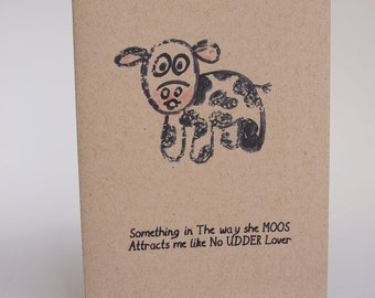 Greeting Card - something in the way she moos