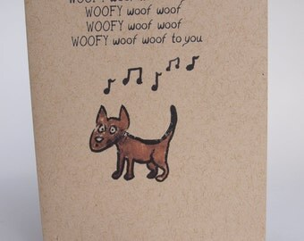 Greeting Card - Dog birthday song