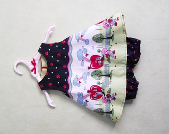 Trapeze and bloomer dress set 6/9 months 'Charlotte to apples'