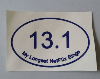 NETFLIX BINGE 13.1 Vinyl Car Window Decal or Laptop Sticker.. Free Shipping