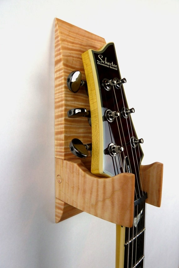 tiger maple wall mounted guitar hanger. Black Bedroom Furniture Sets. Home Design Ideas