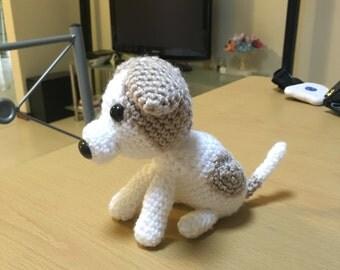 Crochet amigurumi dog soft toy