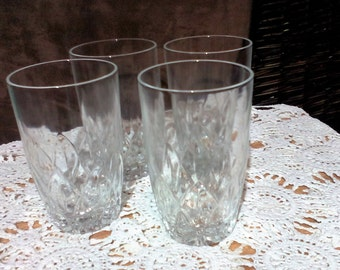 HALF PRICE - Vintage HighBall Water Glasses Barware - Set of four