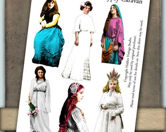 Gypsy Caravan Digital Collage Sheet