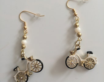 Let's go for a Bike Ride! Bicycle charm dangle earrings