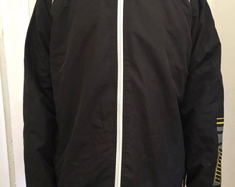 Large Black Puma Zip-up Tracksuit Top