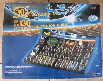 Science Fair 130 in One Electronics Project Lab Kit, Electronic project kit, electronic lab game, science fair, science game, vintage game