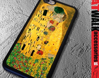 Apple iPhone 6/6S Rubber Case. The Kiss iPhone 5/5s Case. Art iPhone cover. iPhone 6/6S. Gustav Klimt Phone case. iPhone Accessory.