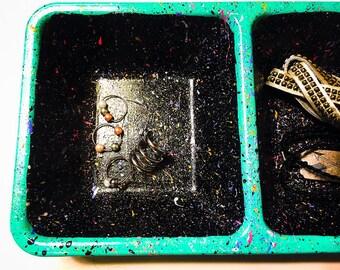 Splatter Paint Jewelry Holder