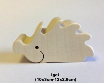 Wooden figure Hedgehog / Handmade / Animals / Wooden toys / Forest / Waldorf / Montessori