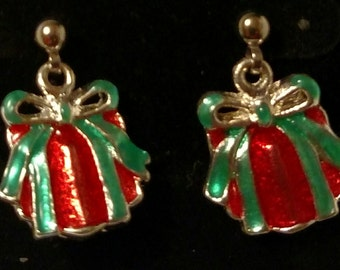 Gift wrapped with bow w/ surgical post earrings