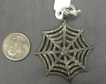 Pave Diamonds Web Pendant