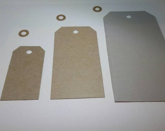 Hand Die-Cut Basic Gift Tags Made From Reclaimed Cardboard, 10 pc
