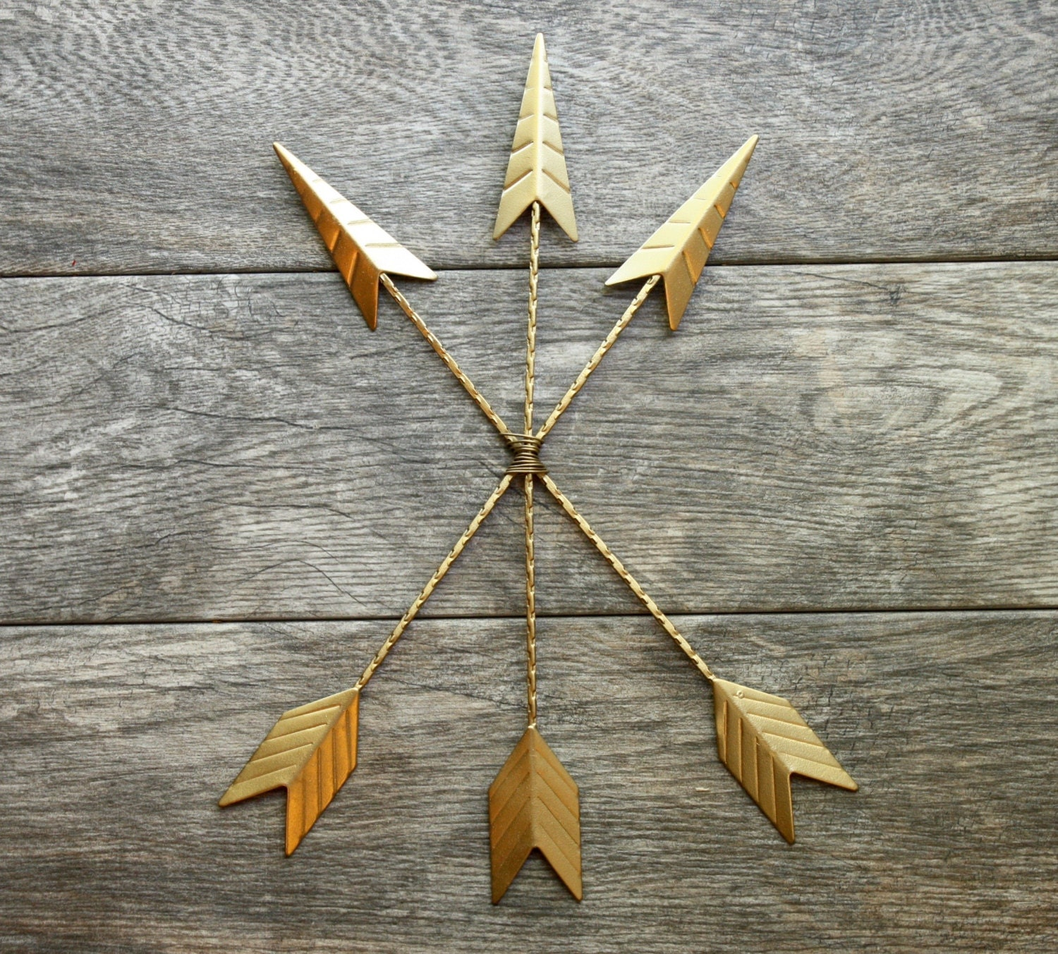 Gold Arrow Wall Decor : Gold arrow wall hanging native american by